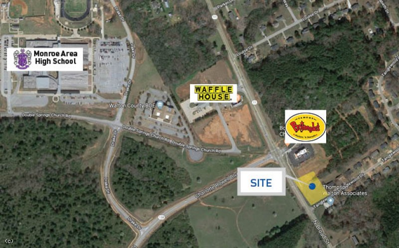 Commercial land lot | Tanglewood Dr | Monroe, GA